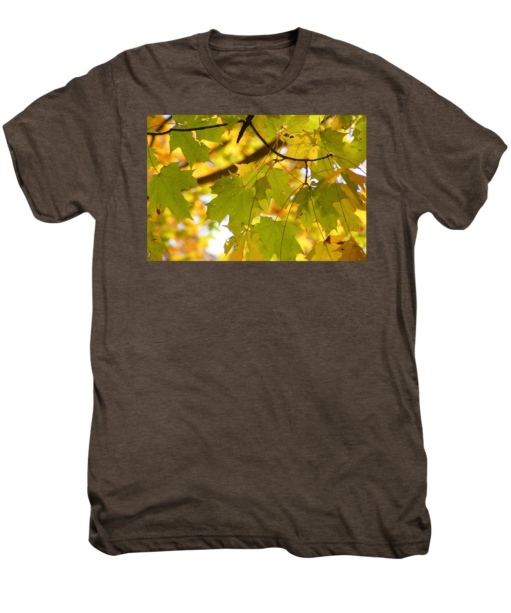 Leaves Men's Premium T-Shirt featuring the photograph Natures Glow by Ed Smith