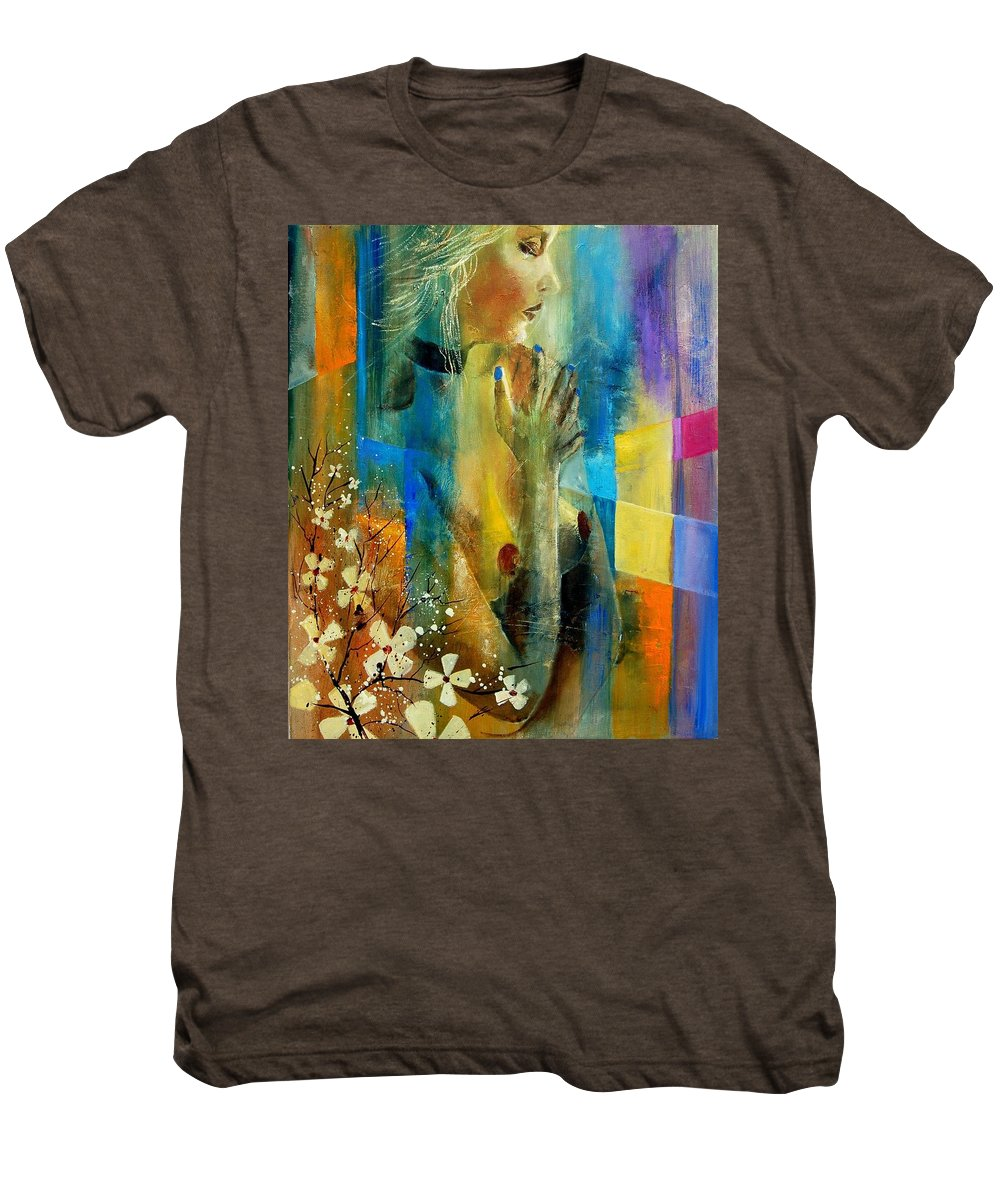 Nude Men's Premium T-Shirt featuring the painting Nude 5609082 by Pol Ledent