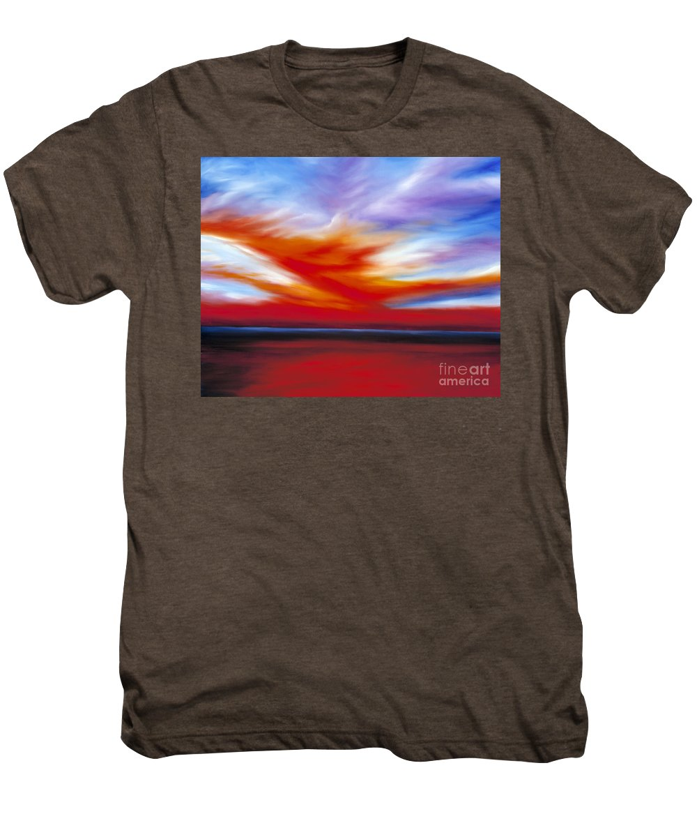 Seascape Men's Premium T-Shirt featuring the painting October Sky II by James Christopher Hill