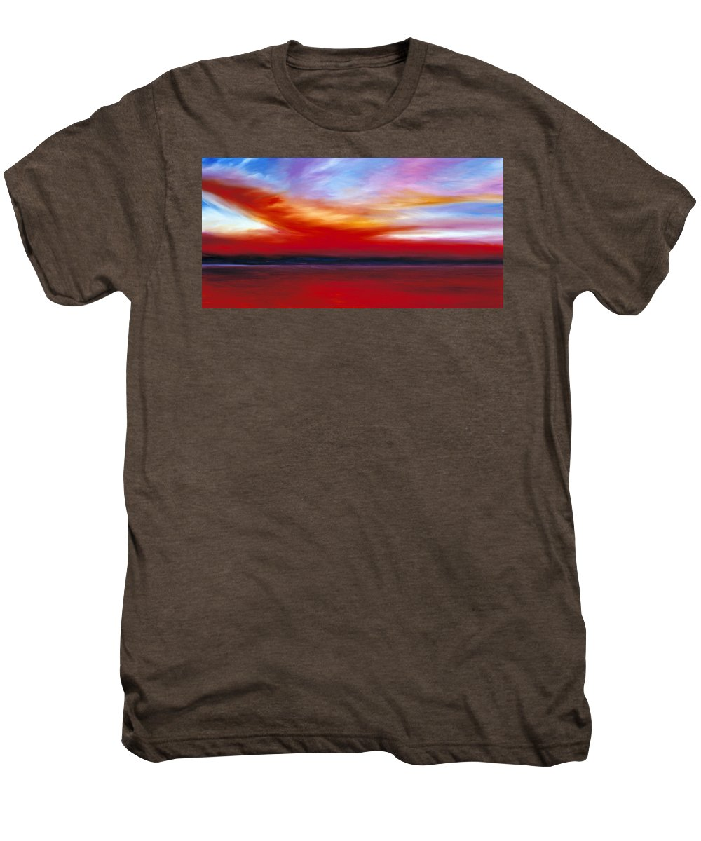 Clouds Men's Premium T-Shirt featuring the painting October Sky by James Christopher Hill