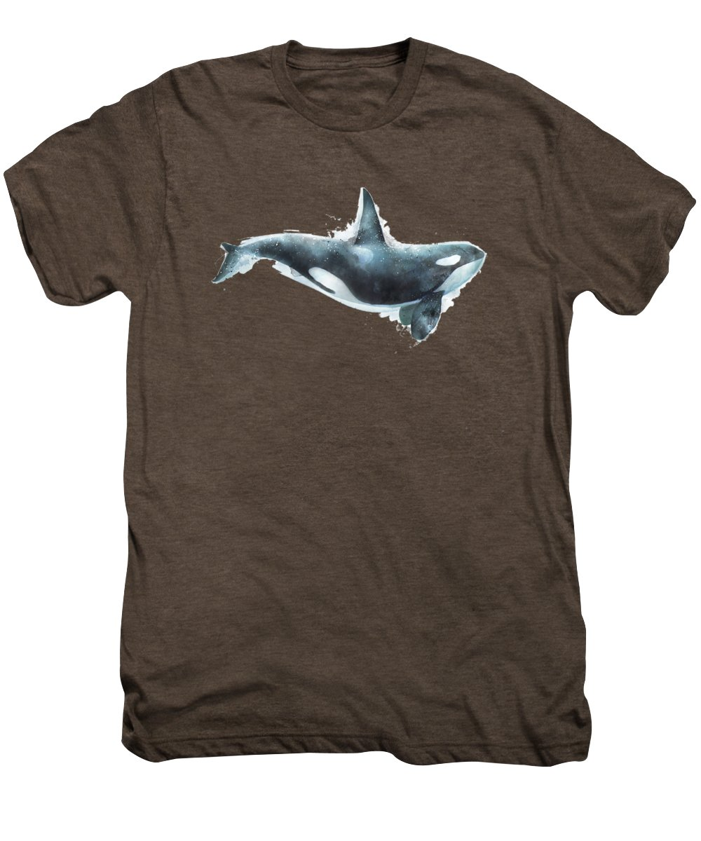 Orca Men's Premium T-Shirt featuring the painting Orca by Amy Hamilton