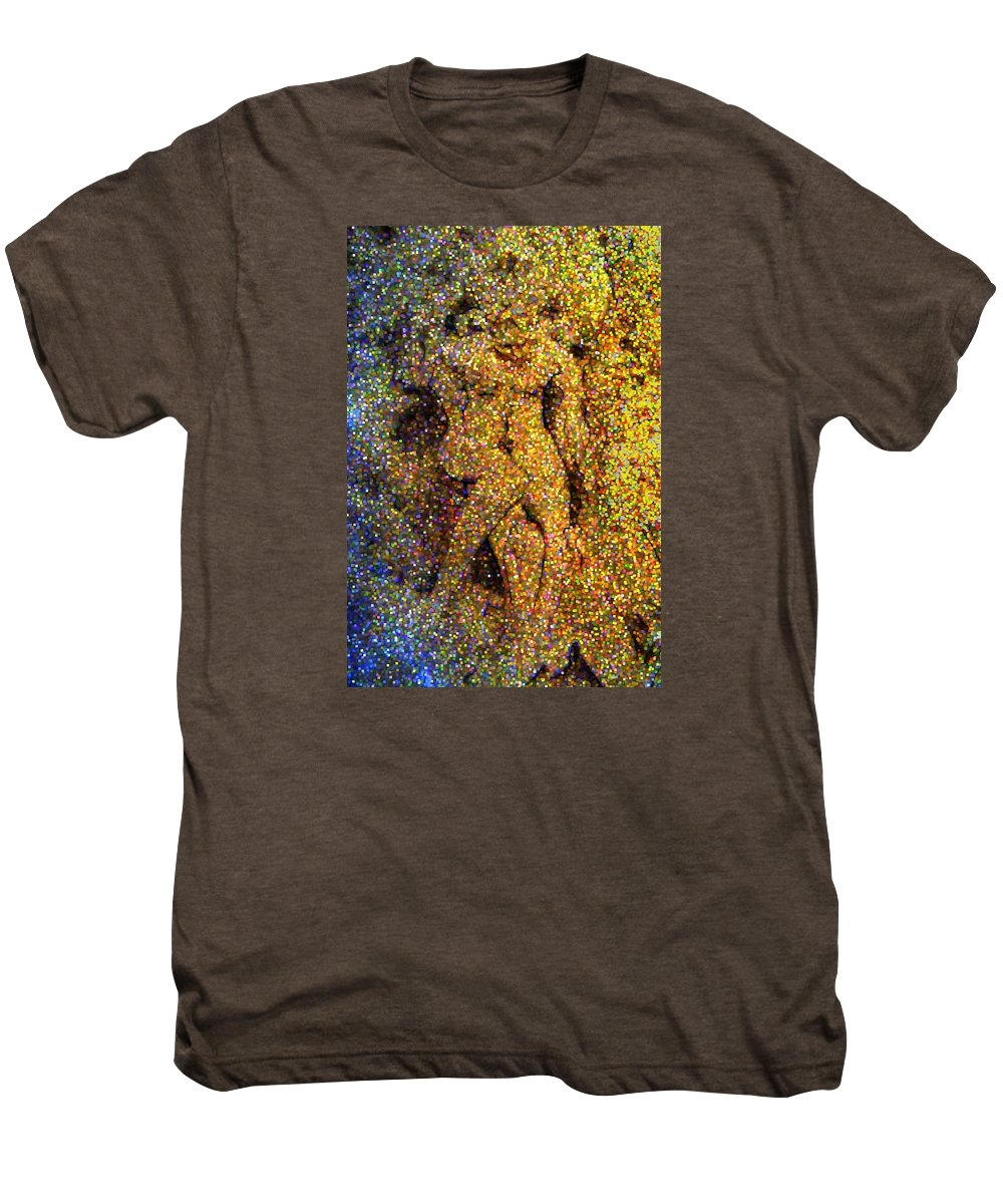 Abstract Men's Premium T-Shirt featuring the digital art Out Of Eden by Dave Martsolf