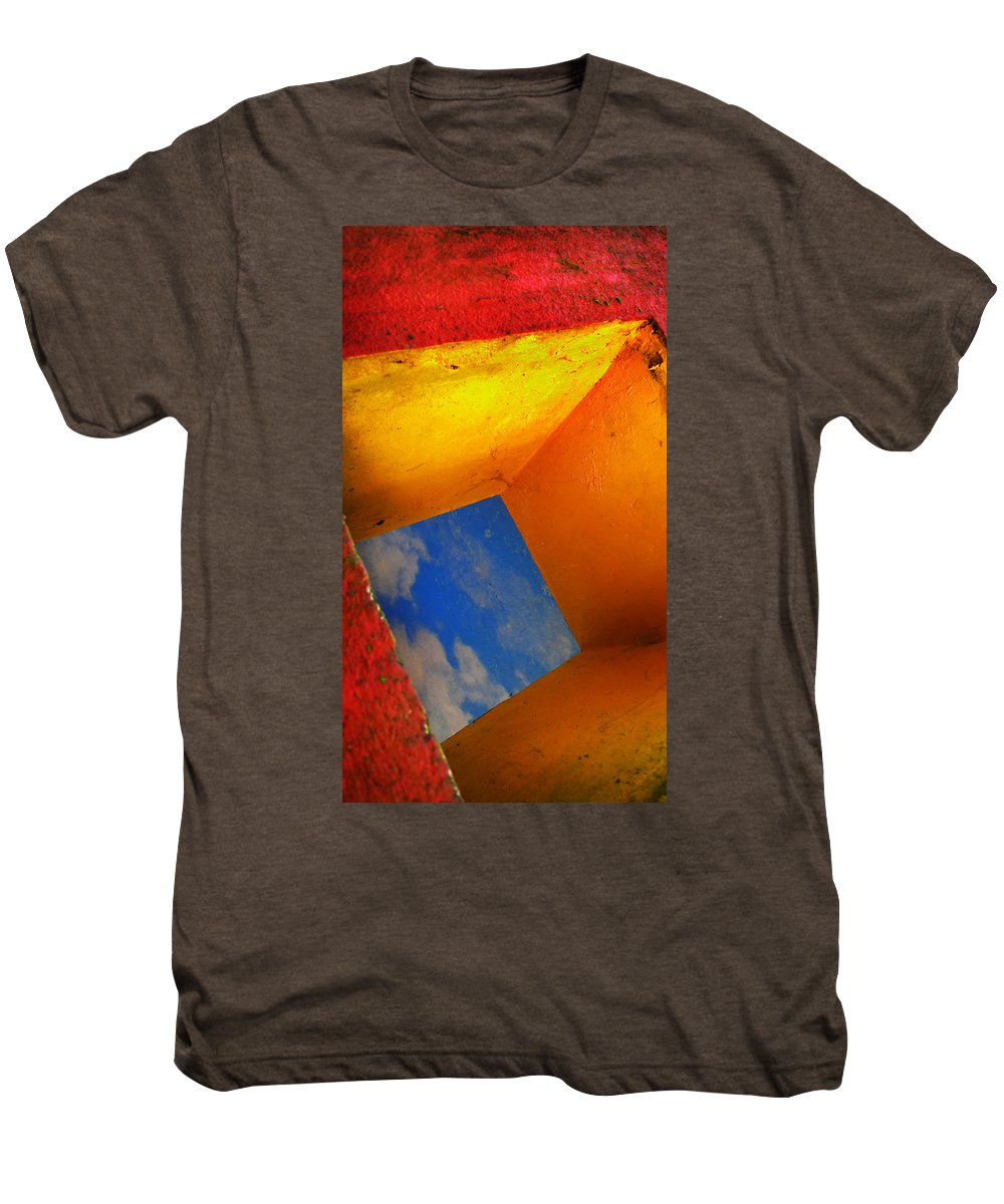 Skip Hunt Men's Premium T-Shirt featuring the photograph Over The Rainbow by Skip Hunt
