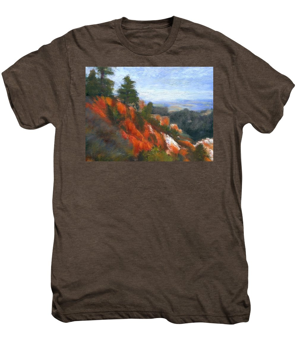 Southwest Men's Premium T-Shirt featuring the painting Overlook by Gail Kirtz