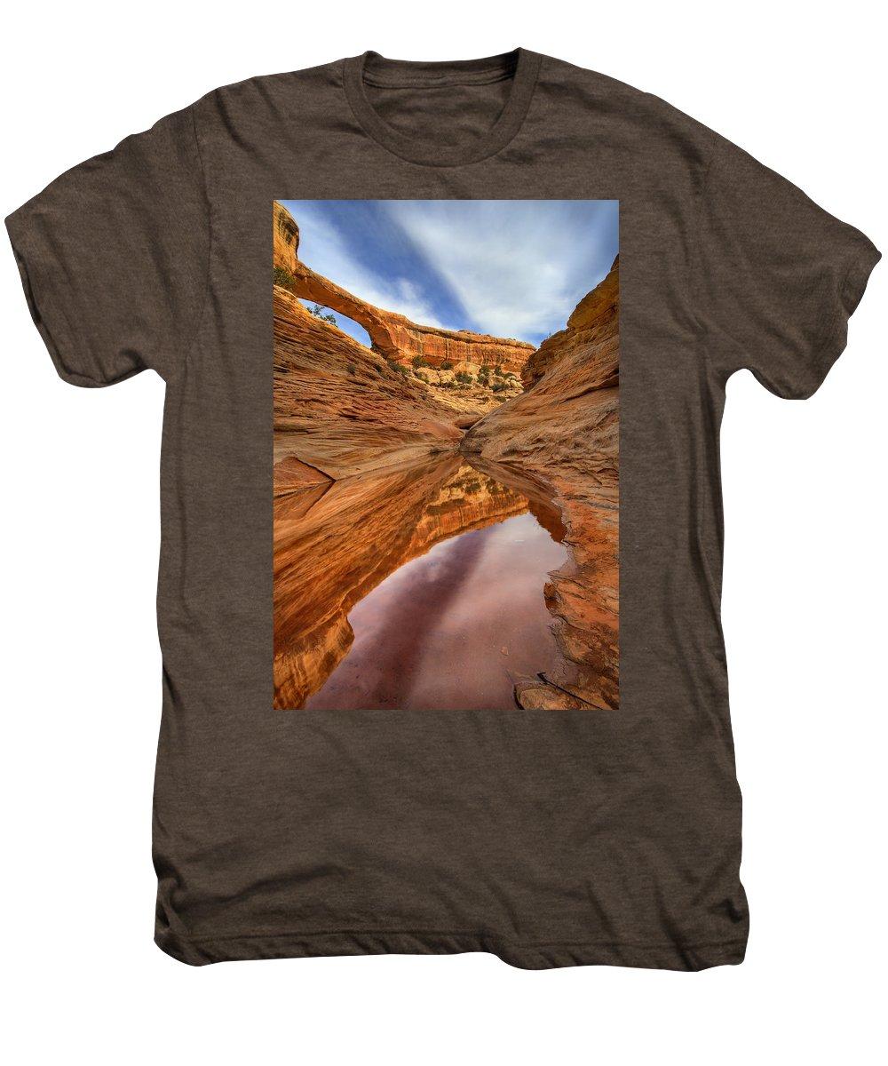 Bridge Men's Premium T-Shirt featuring the photograph Owachomo Reflected by Mike Dawson
