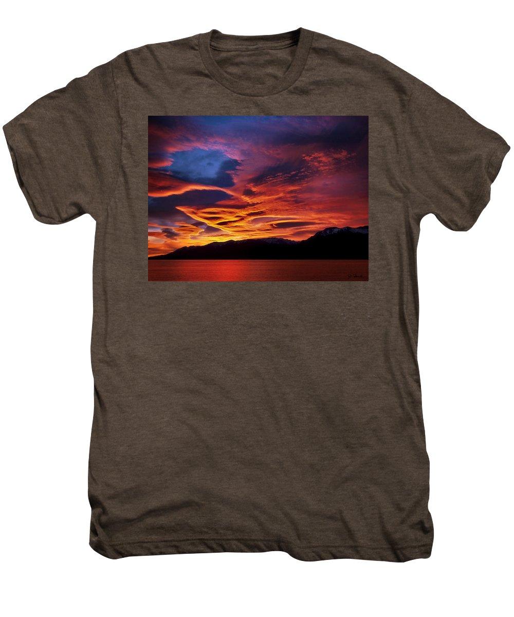 Patagonia Men's Premium T-Shirt featuring the photograph Patagonian Sunrise by Joe Bonita