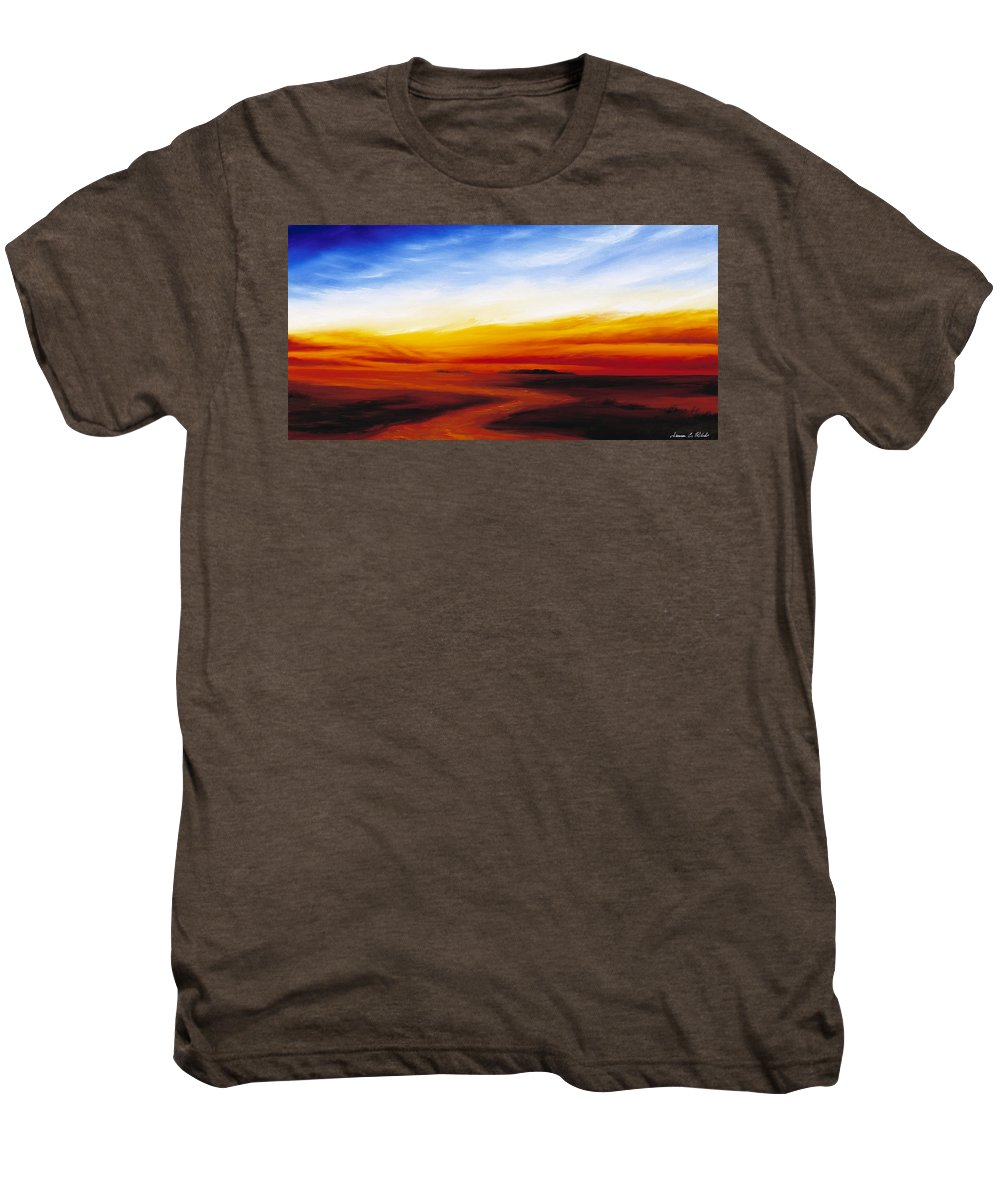 Sunrise Men's Premium T-Shirt featuring the painting Path To Redemption by James Christopher Hill