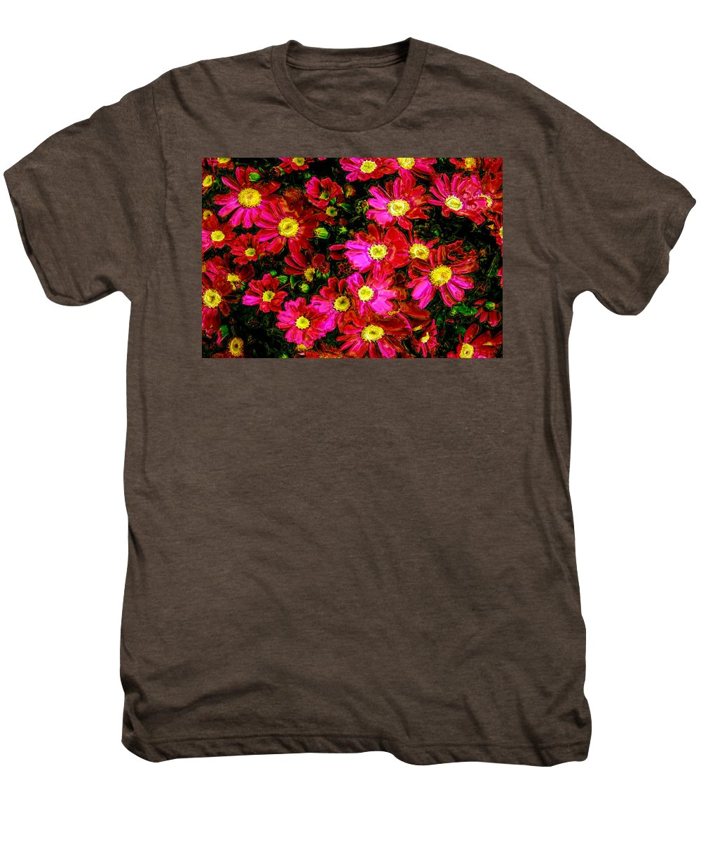 Flower Men's Premium T-Shirt featuring the photograph Pink Friends by Phill Petrovic