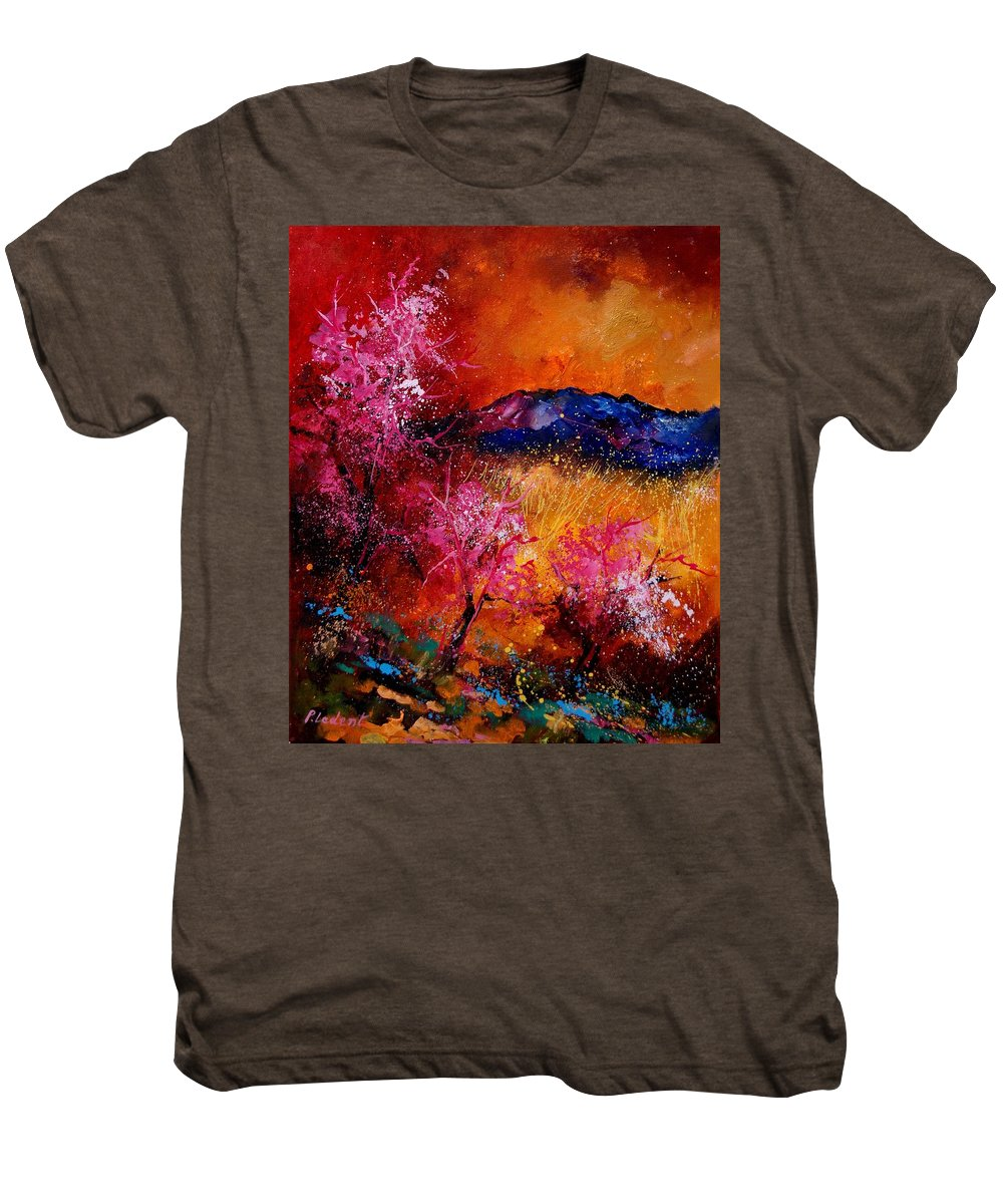 Provence Men's Premium T-Shirt featuring the painting Provence560908 by Pol Ledent