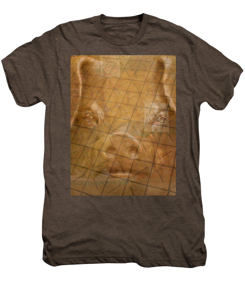 Seattle Men's Premium T-Shirt featuring the photograph Rachael And The Market Tiles by Tim Allen