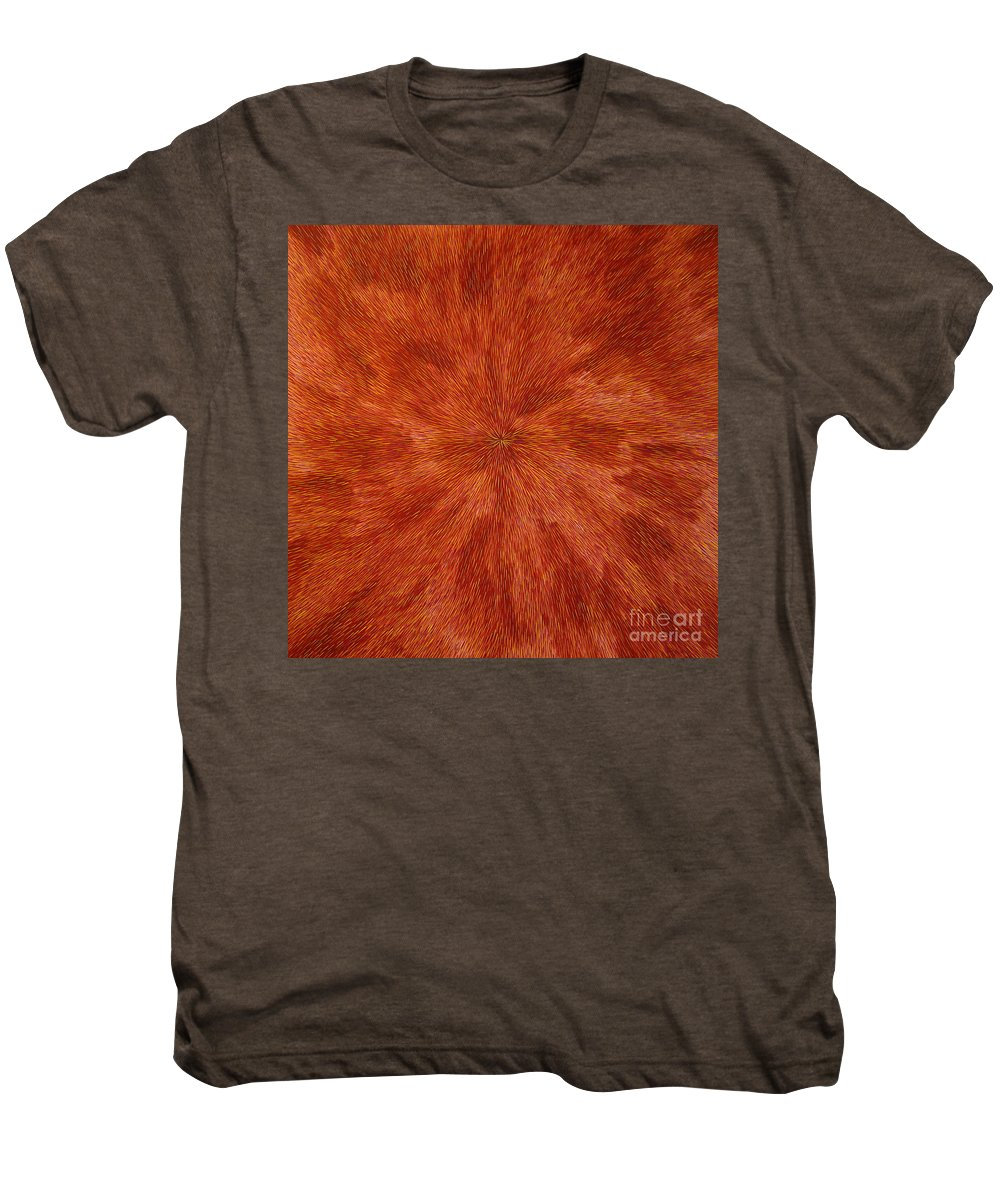 Abstract Men's Premium T-Shirt featuring the painting Radiation With Brown Yellow And Voilet by Dean Triolo
