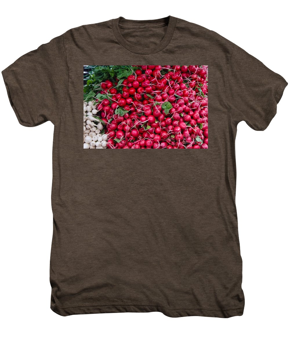 Radish Men's Premium T-Shirt featuring the photograph Radishes by Thomas Marchessault