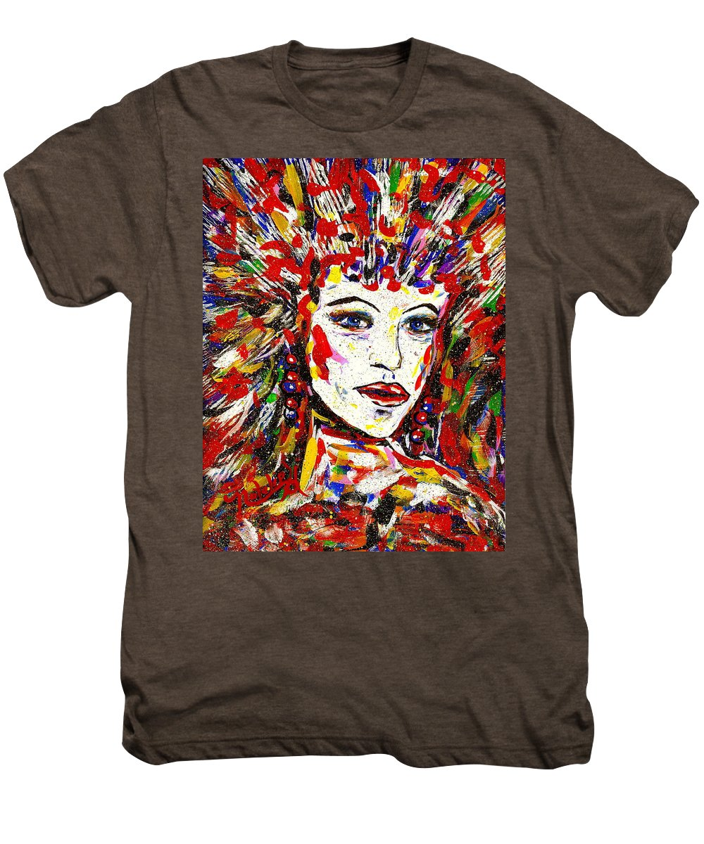 Abstract Art Men's Premium T-Shirt featuring the painting Rainbow by Natalie Holland