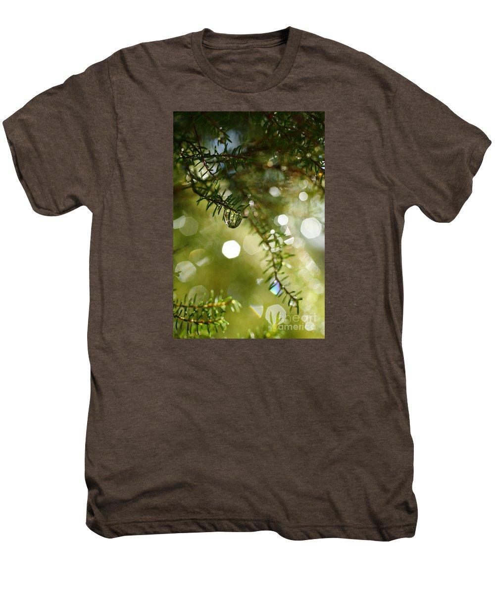 Dew Men's Premium T-Shirt featuring the photograph Raindrops by Gaspar Avila