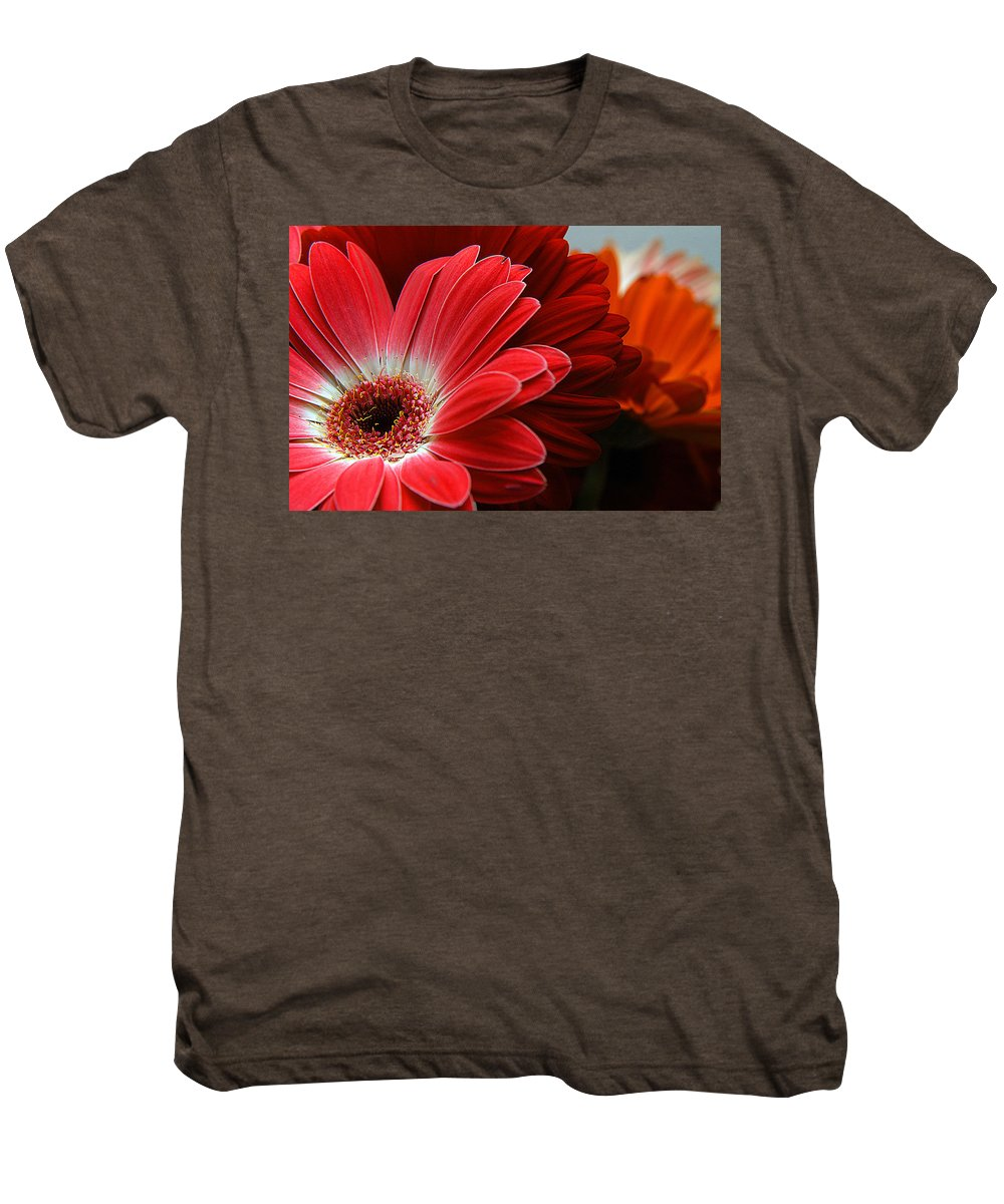 Clay Men's Premium T-Shirt featuring the photograph Red And Orange Florals by Clayton Bruster