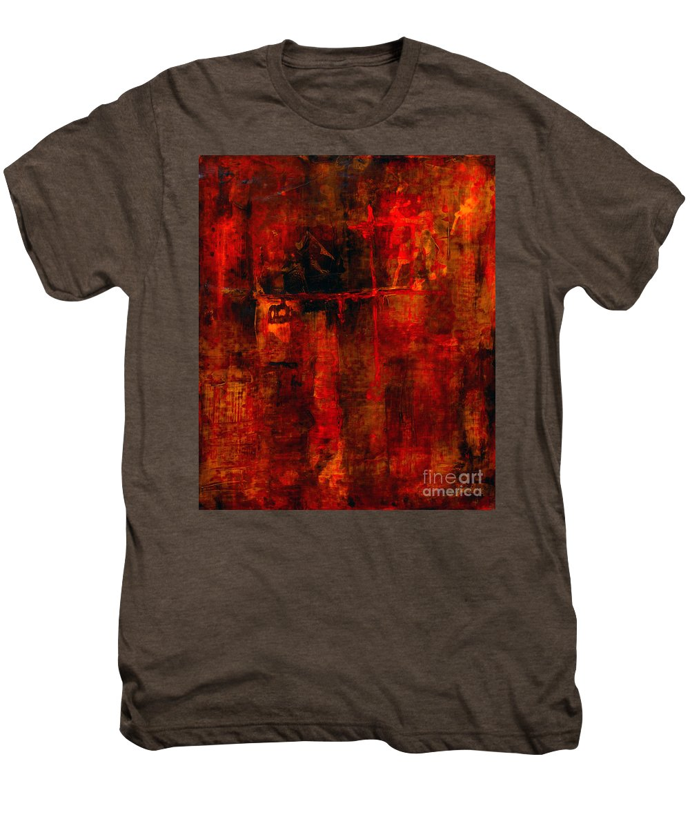 Abstract Painting Men's Premium T-Shirt featuring the painting Red Odyssey by Pat Saunders-White