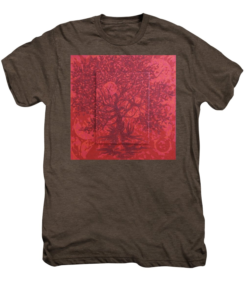 Red Men's Premium T-Shirt featuring the painting Red Planet by Judy Henninger