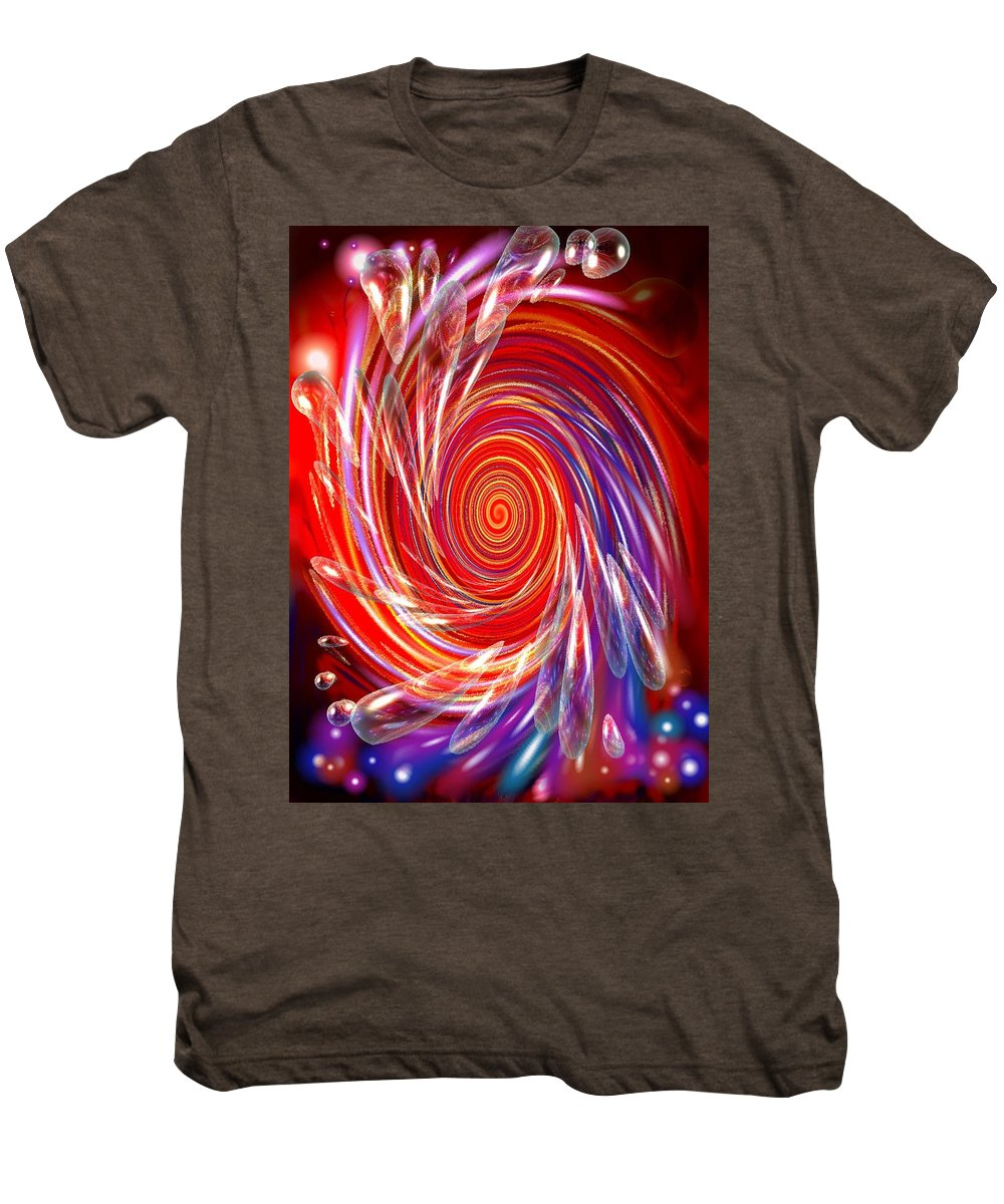 Red Men's Premium T-Shirt featuring the digital art Red Twirl by Natalie Holland