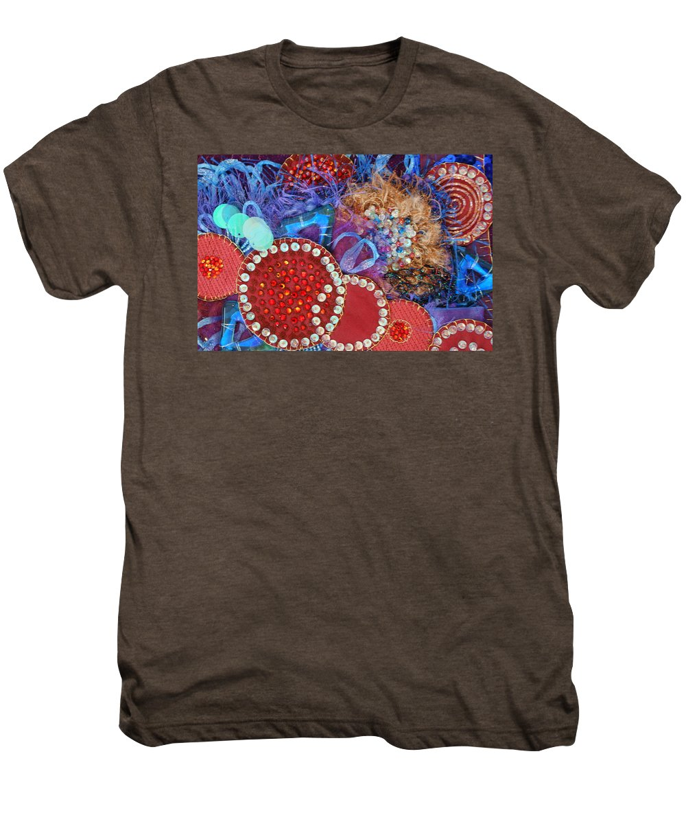 Men's Premium T-Shirt featuring the mixed media Ruby Slippers 3 by Judy Henninger