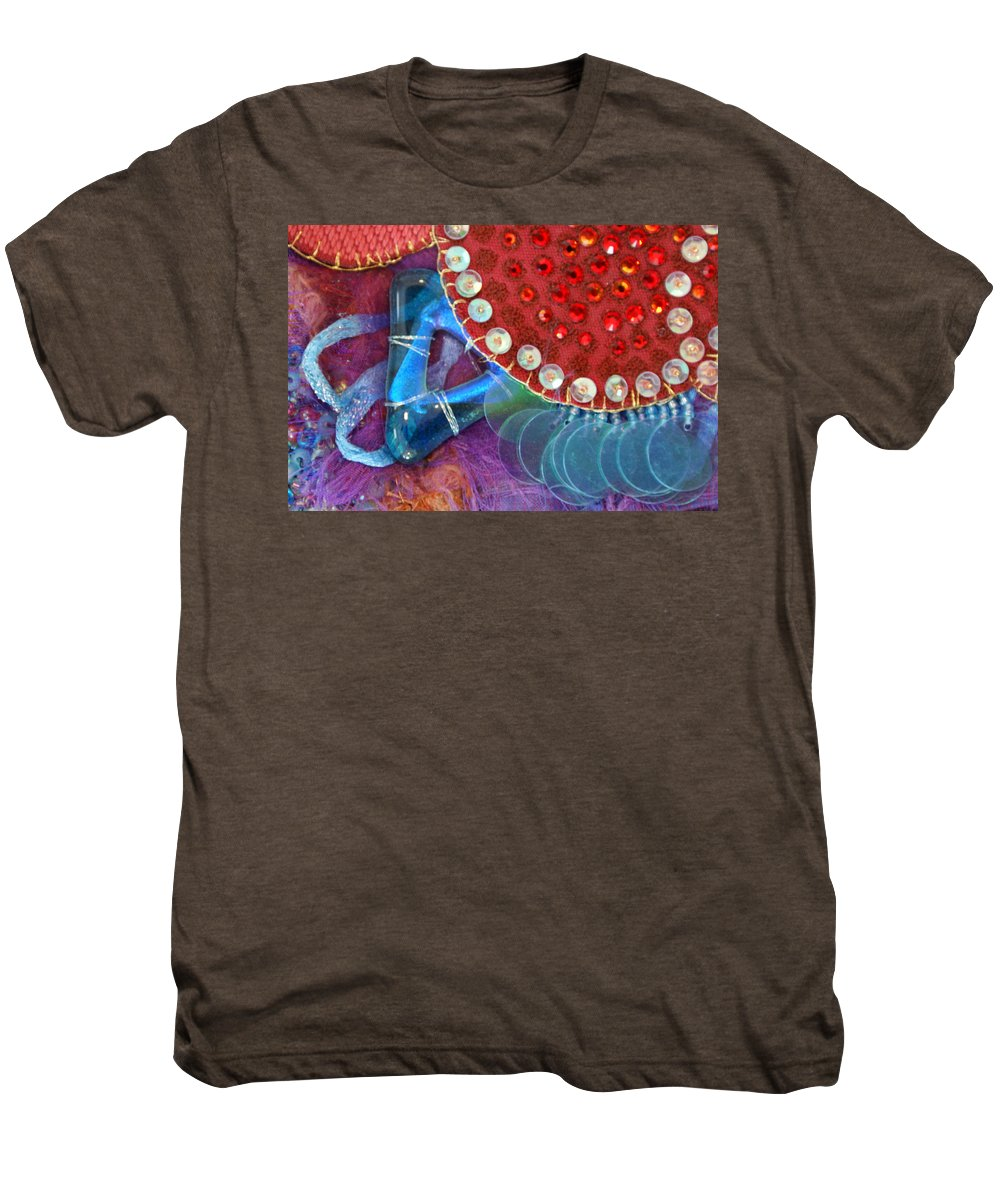 Men's Premium T-Shirt featuring the mixed media Ruby Slippers 4 by Judy Henninger