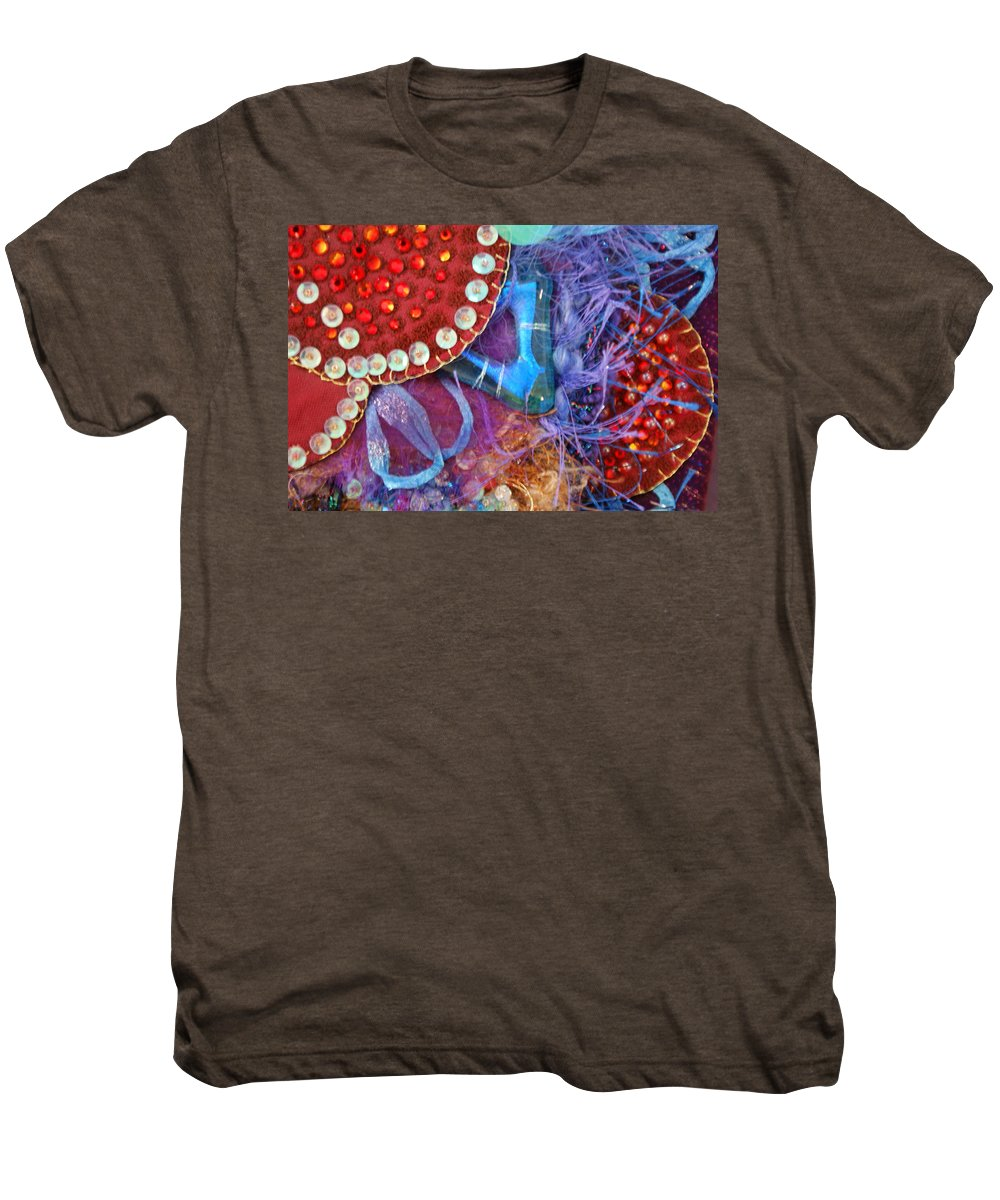 Men's Premium T-Shirt featuring the mixed media Ruby Slippers 7 by Judy Henninger