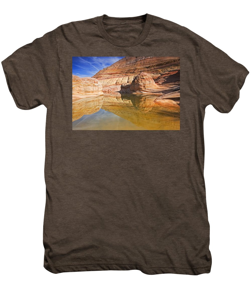 Pool Men's Premium T-Shirt featuring the photograph Sandstone Illusions by Mike Dawson
