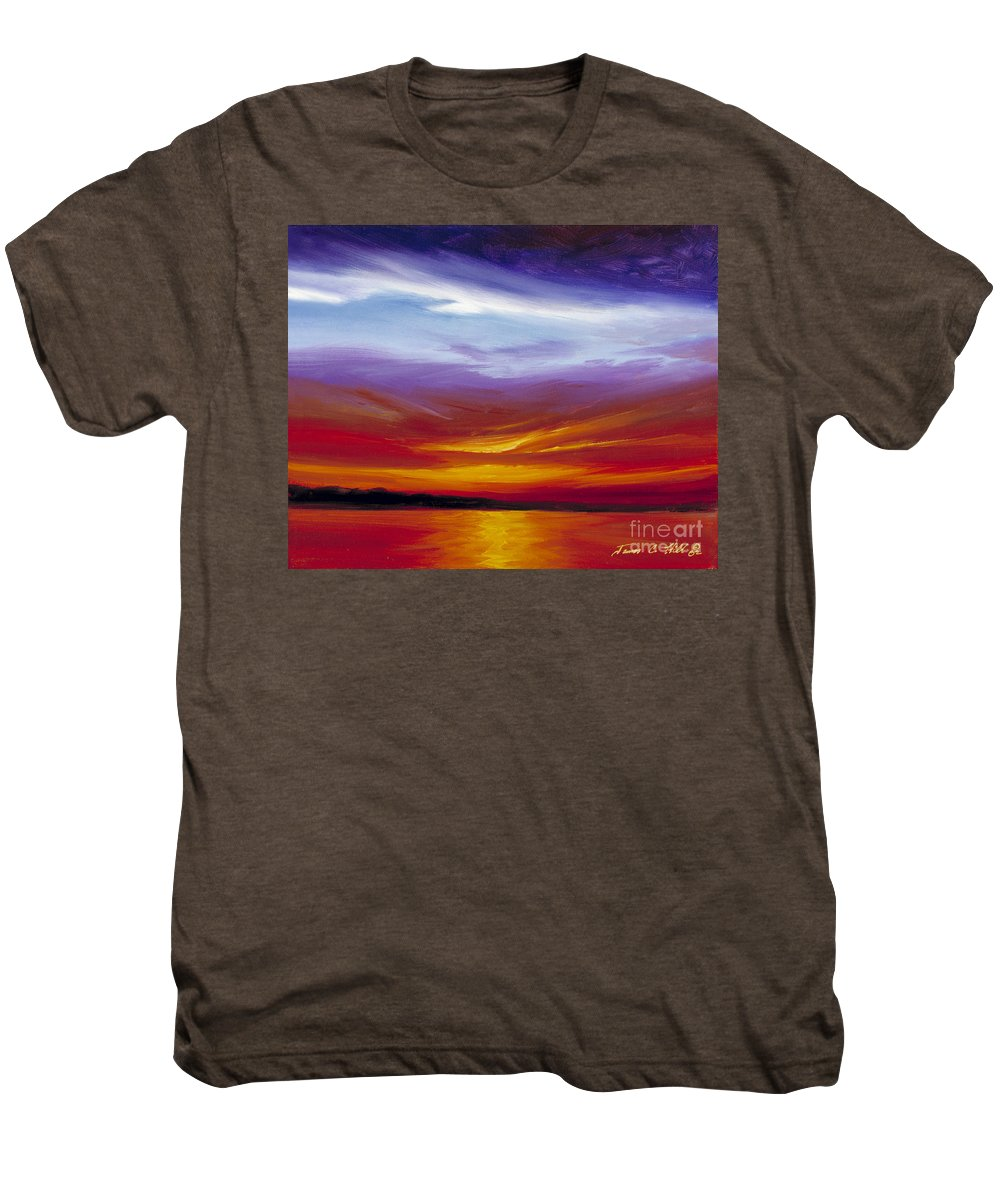 Skyscape Men's Premium T-Shirt featuring the painting Sarasota Bay I by James Christopher Hill