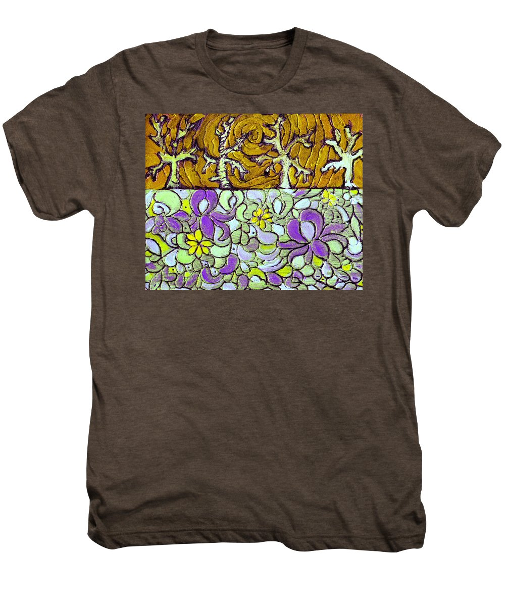 Meadow Men's Premium T-Shirt featuring the painting Seduced By The Meadow by Wayne Potrafka