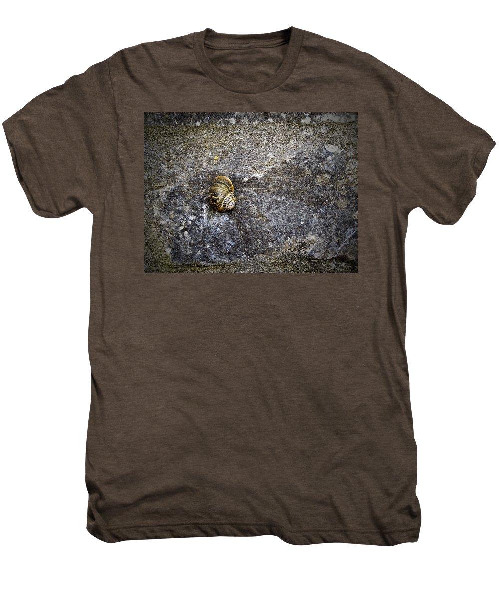Irish Men's Premium T-Shirt featuring the photograph Snail At Ballybeg Priory County Cork Ireland by Teresa Mucha