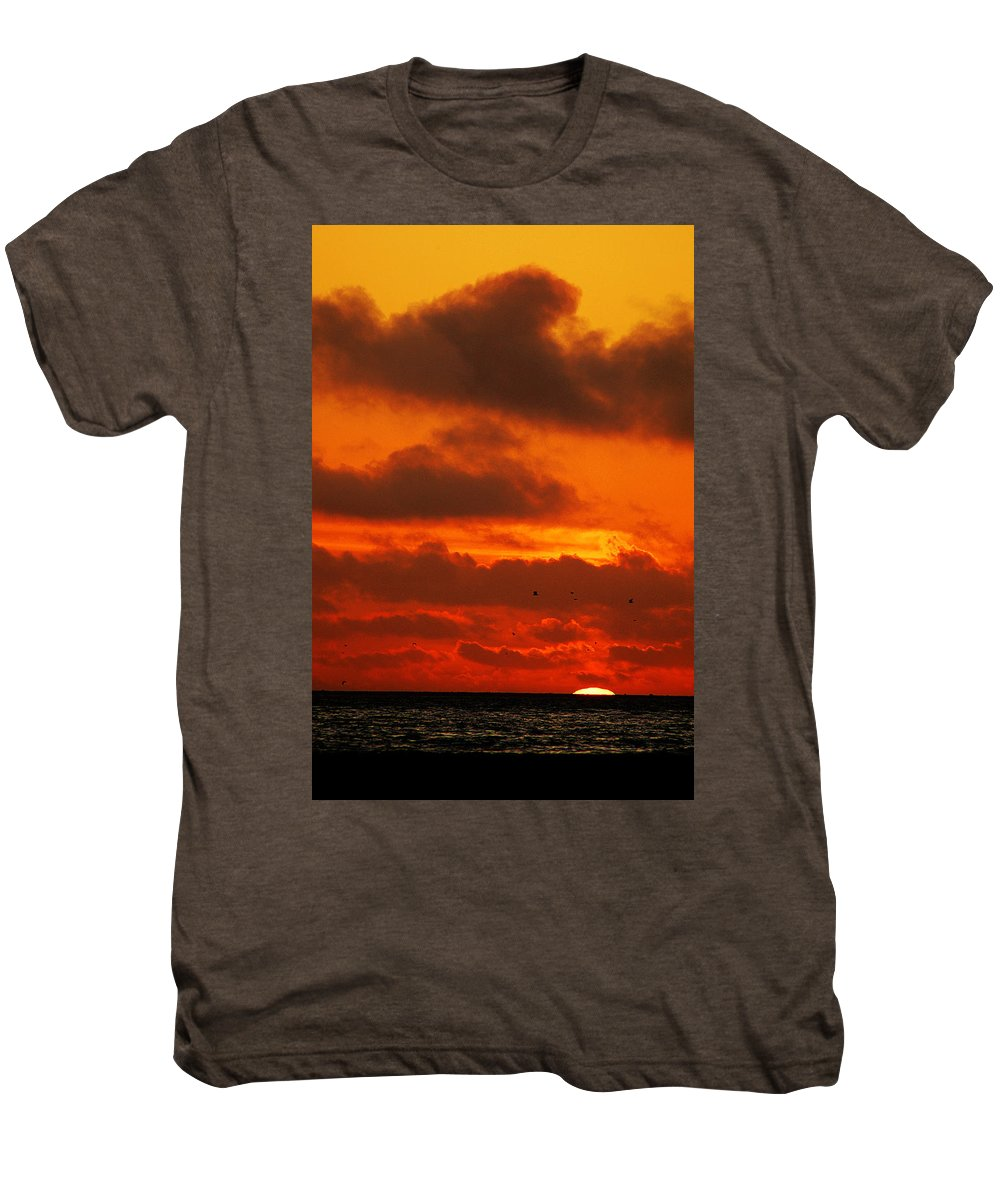 Clay Men's Premium T-Shirt featuring the photograph Socal Sunset by Clayton Bruster
