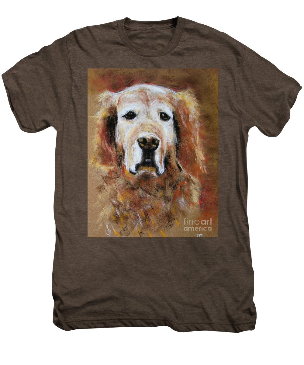 Golden Men's Premium T-Shirt featuring the painting Sonny by Frances Marino