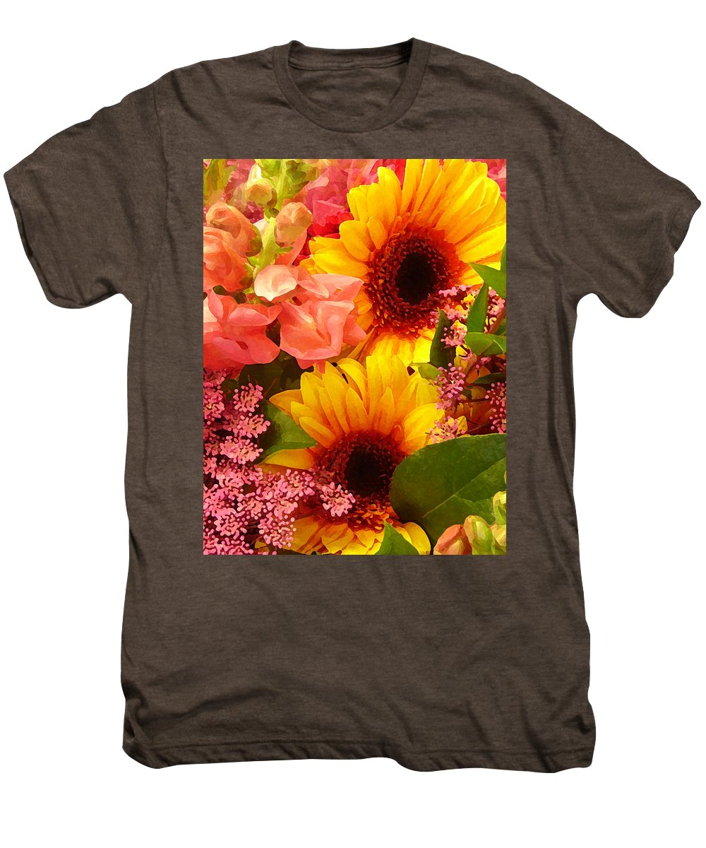 Roses Men's Premium T-Shirt featuring the photograph Spring Bouquet 1 by Amy Vangsgard