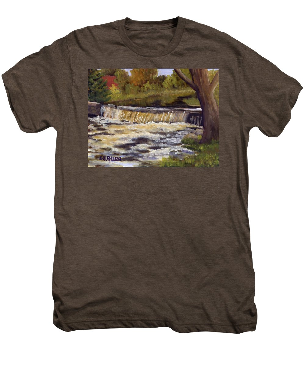 Water Men's Premium T-Shirt featuring the painting Spring Flow by Sharon E Allen