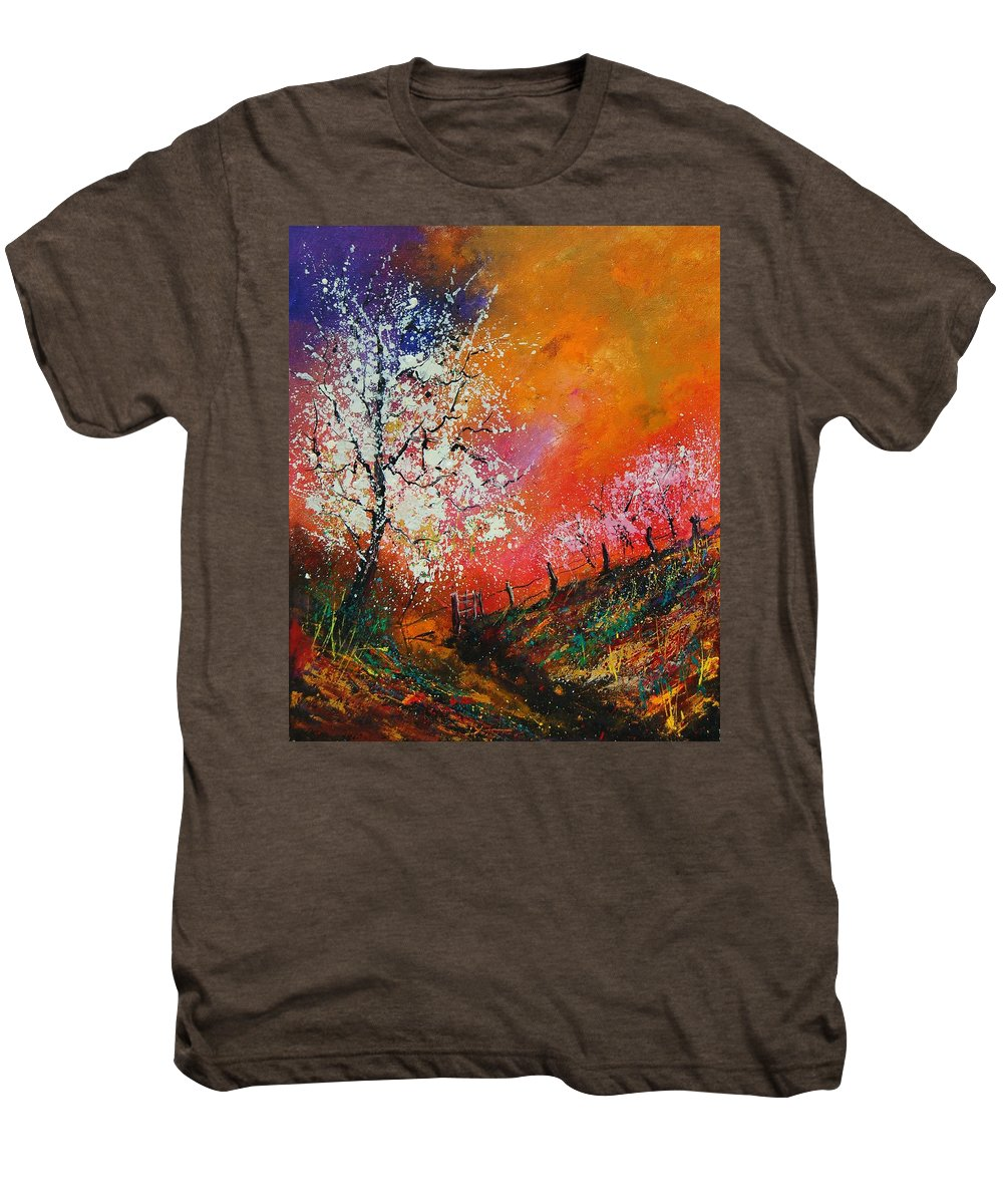 Spring Men's Premium T-Shirt featuring the painting Spring Today by Pol Ledent