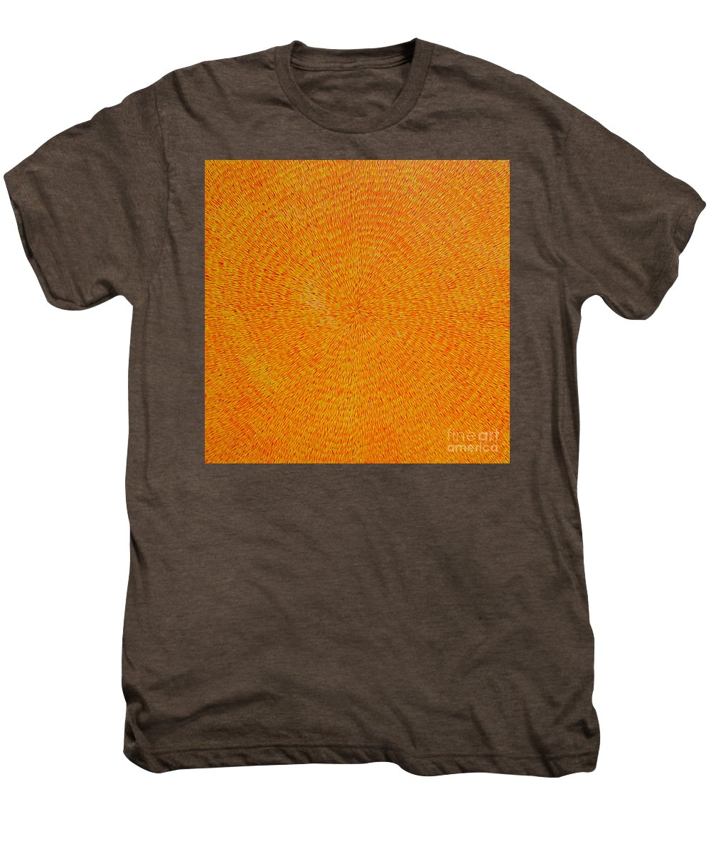 Abstract Men's Premium T-Shirt featuring the painting Su Gaia by Dean Triolo