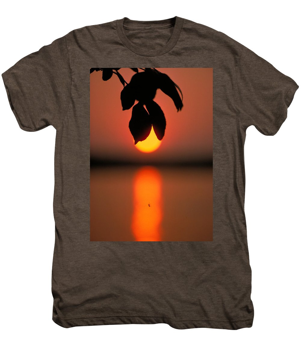 Sunset Men's Premium T-Shirt featuring the photograph Sunset And Spider by Thomas Firak