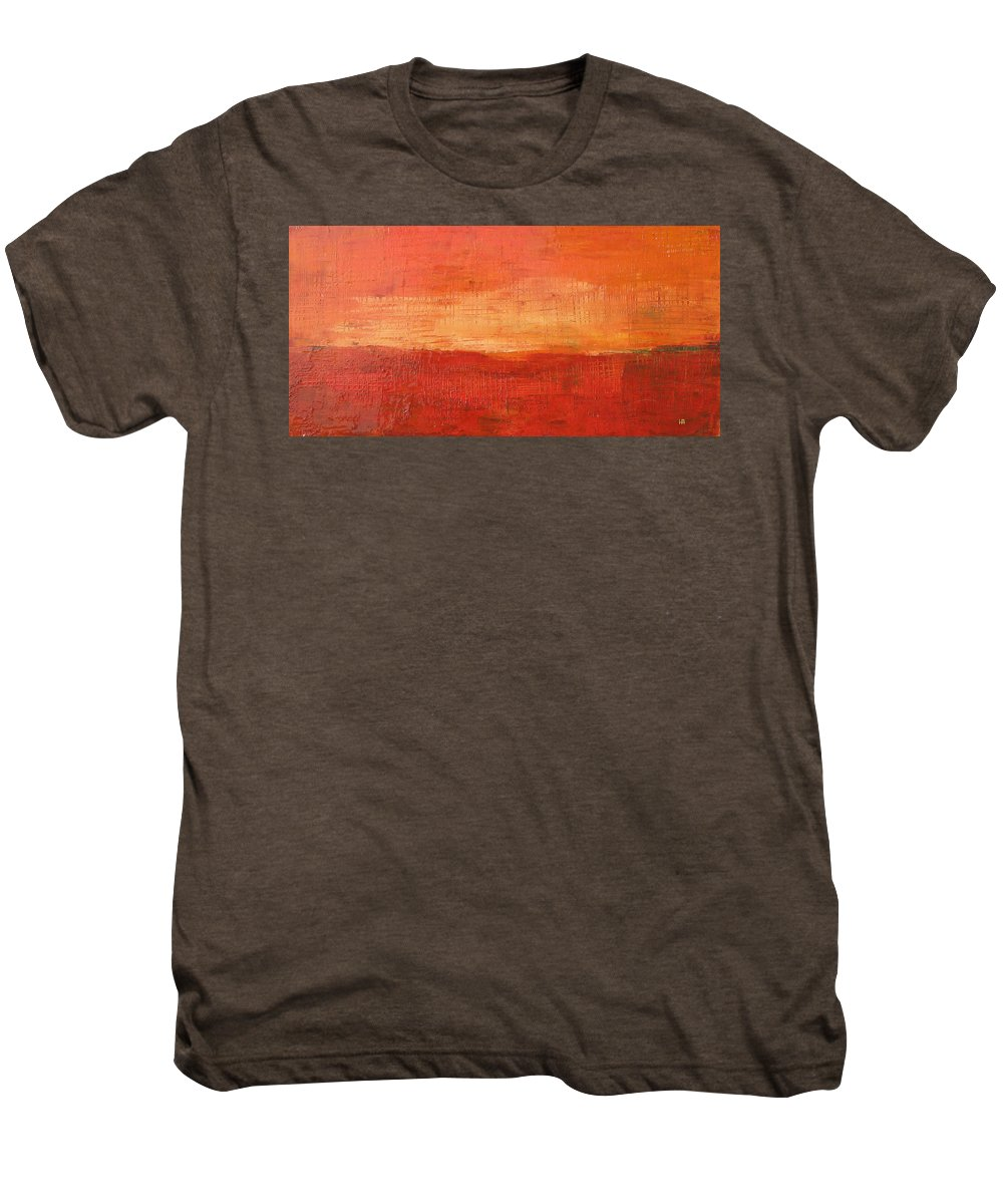 Abstract Men's Premium T-Shirt featuring the painting Sunset by Habib Ayat