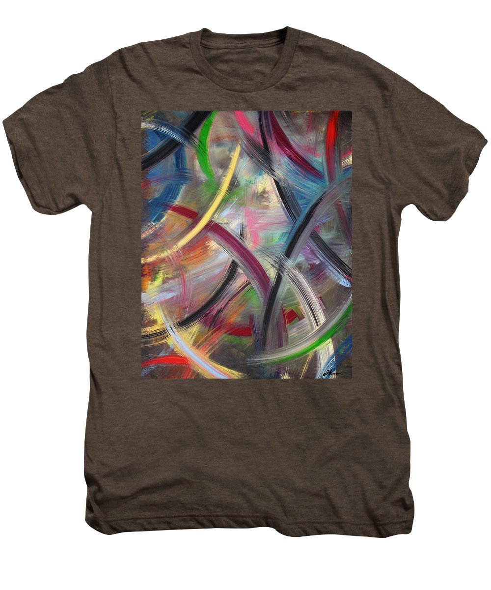 Acrylic Men's Premium T-Shirt featuring the painting Swish by Todd Hoover
