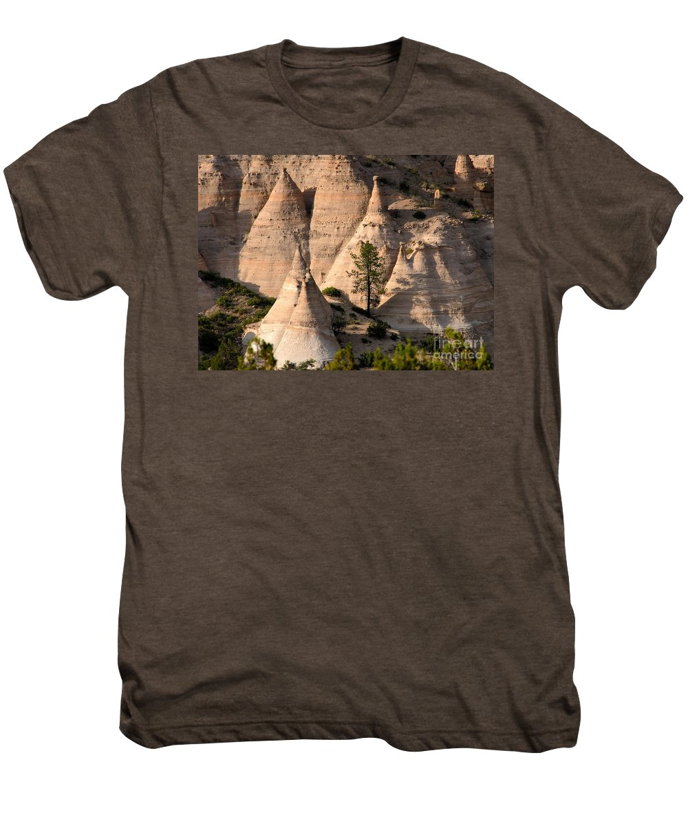 Tent Rocks Wilderness Men's Premium T-Shirt featuring the photograph Tent Rocks Wilderness by David Lee Thompson