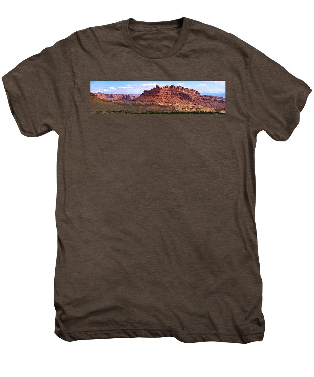 Landscape Utah Men's Premium T-Shirt featuring the photograph The Battleship Utah by Heather Coen