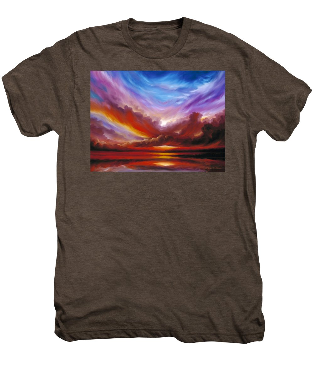 Skyscape Men's Premium T-Shirt featuring the painting The Cosmic Storm II by James Christopher Hill