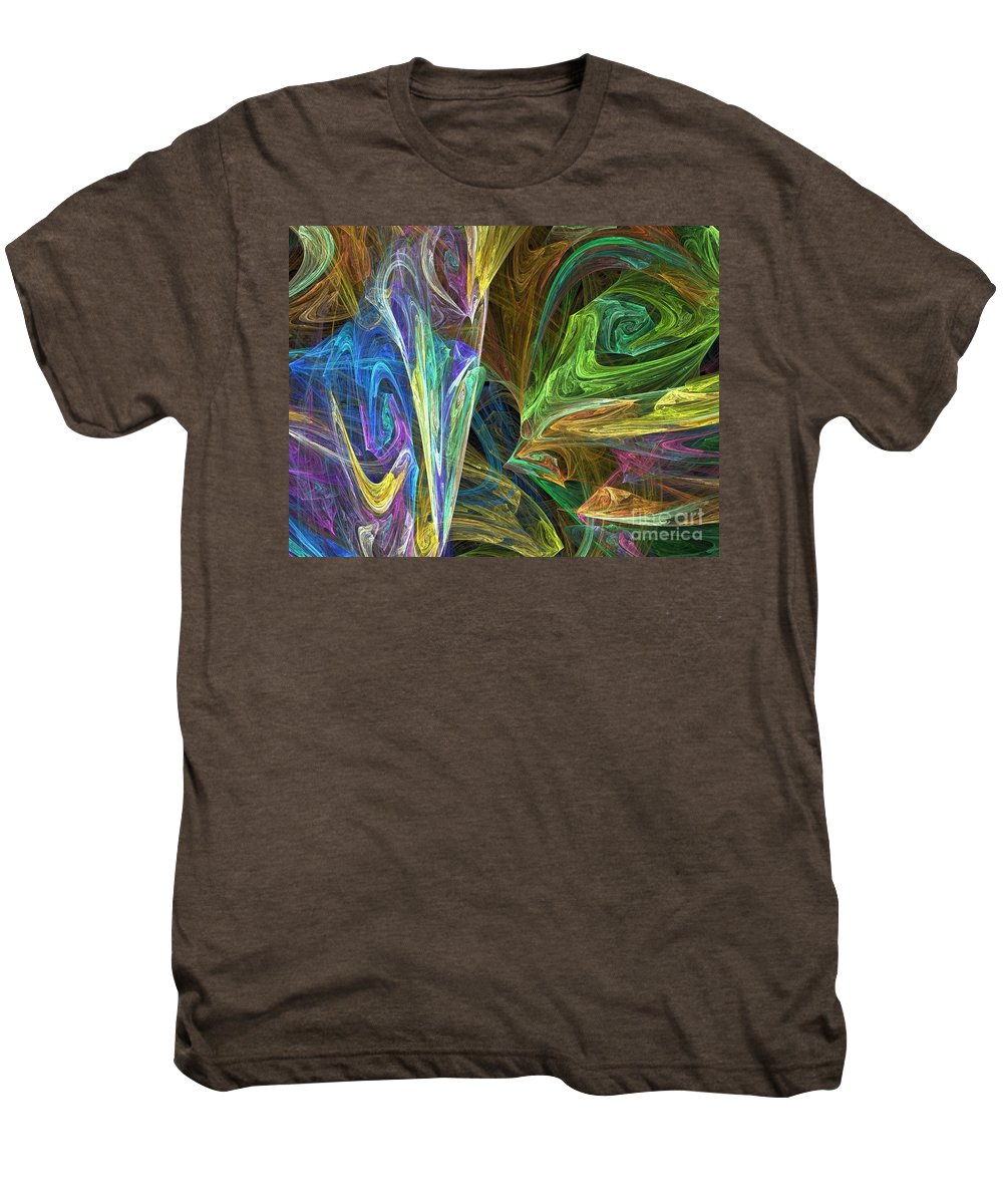 Fractals Men's Premium T-Shirt featuring the digital art The Groove by Richard Rizzo