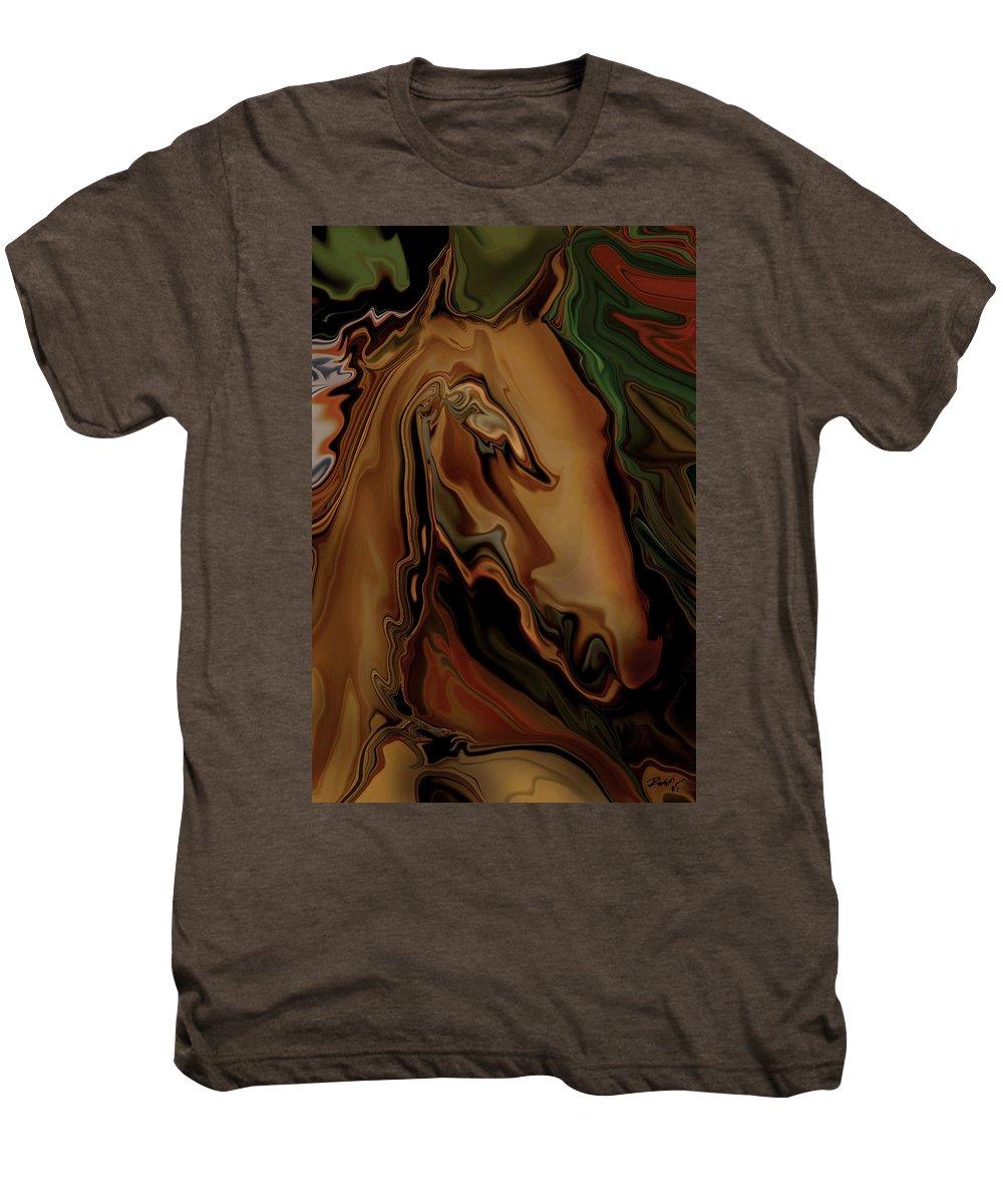 Animal Men's Premium T-Shirt featuring the digital art The Horse by Rabi Khan