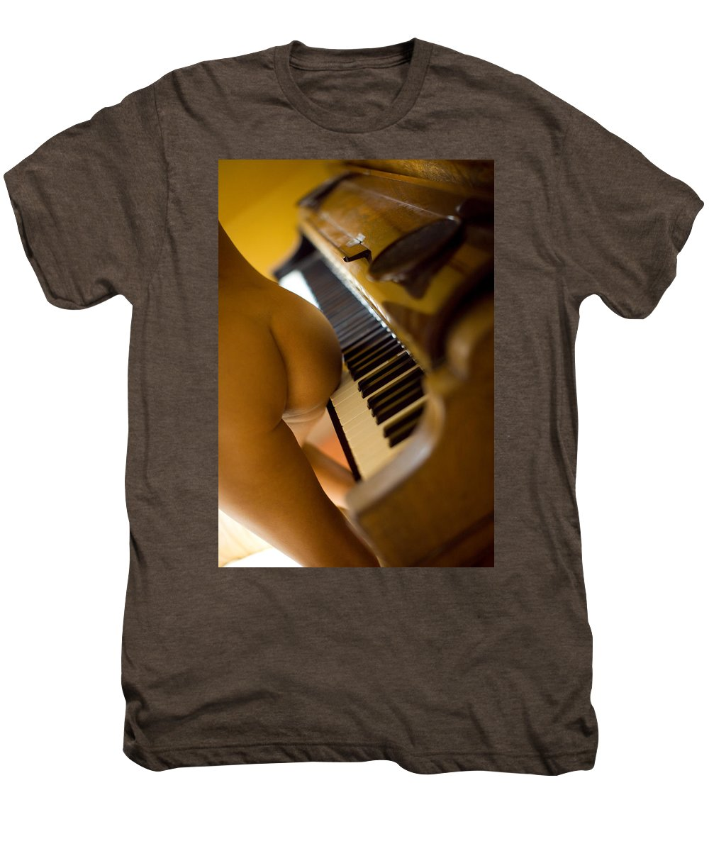 Sensual Men's Premium T-Shirt featuring the photograph The Piano by Olivier De Rycke