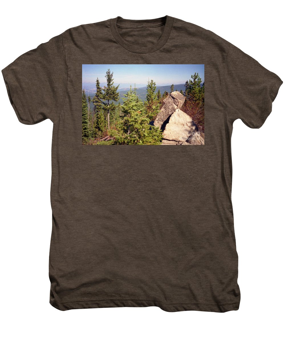 Landscapes Men's Premium T-Shirt featuring the photograph The Star Gazer by Richard Rizzo