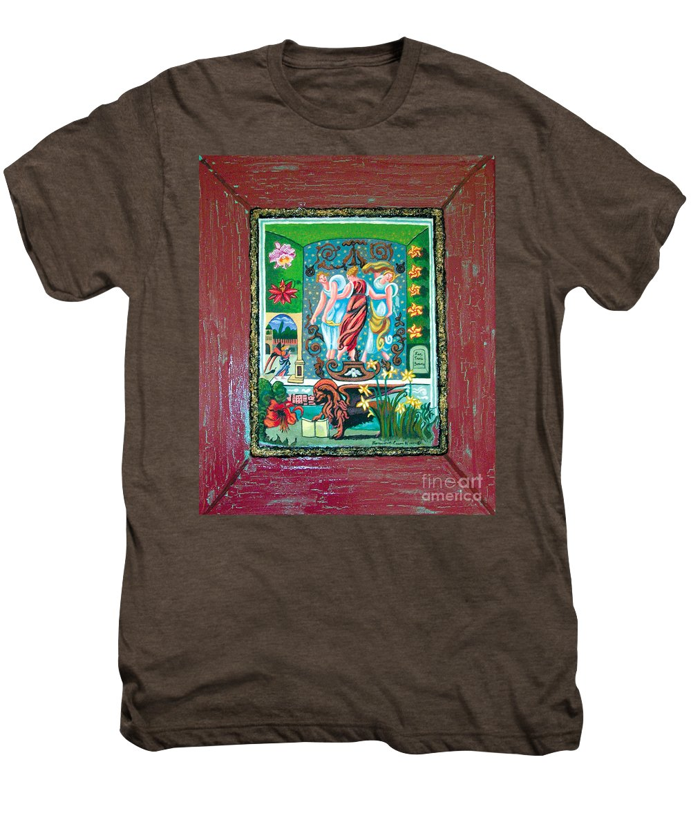 Women Men's Premium T-Shirt featuring the painting The Three Sisters by Genevieve Esson