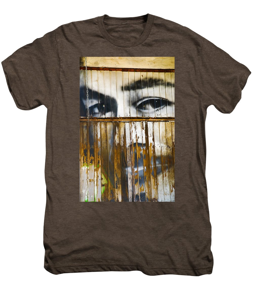 Escondido Men's Premium T-Shirt featuring the photograph The Walls Have Eyes by Skip Hunt