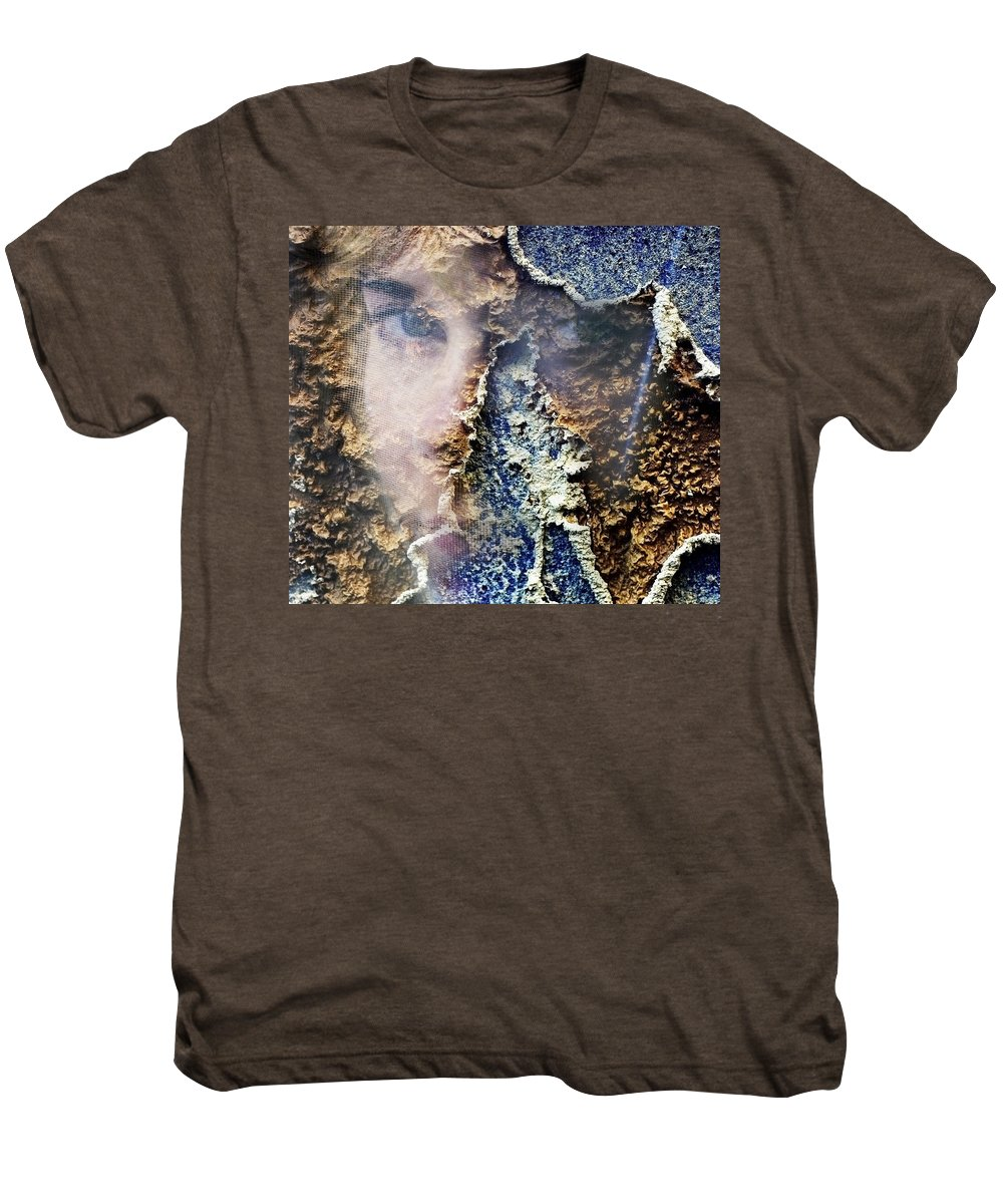 Female Men's Premium T-Shirt featuring the photograph Torn by Skip Hunt