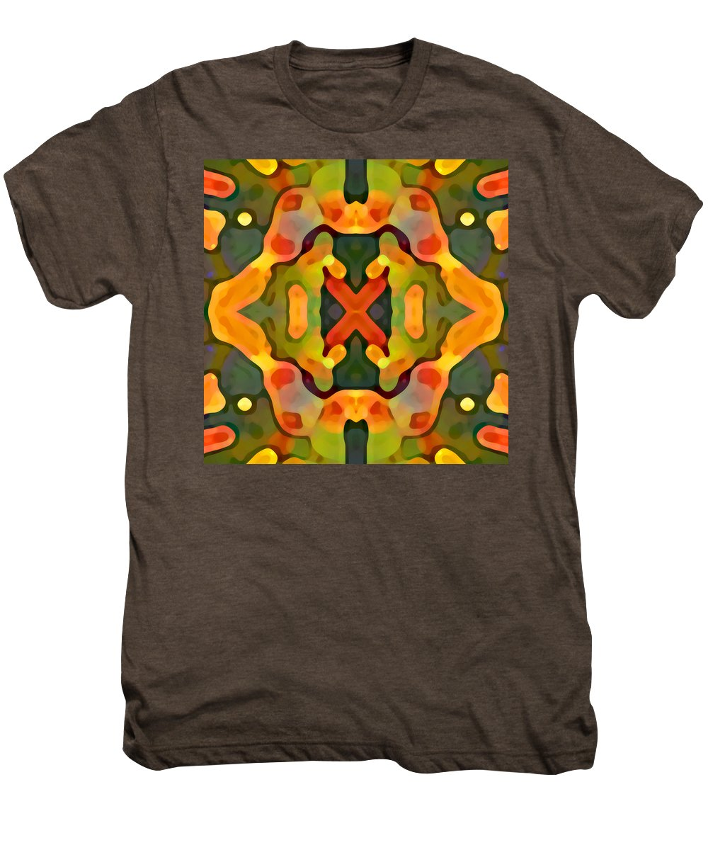 Abstract Men's Premium T-Shirt featuring the painting Treasure by Amy Vangsgard