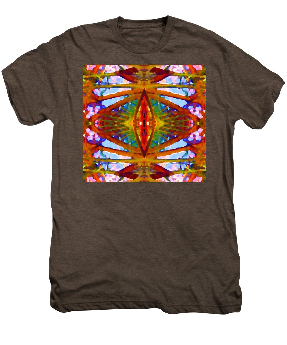 Abstract Men's Premium T-Shirt featuring the painting Tropical Stained Glass by Amy Vangsgard